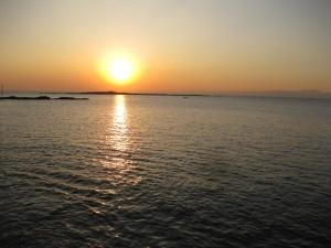 夕陽ですが。明日が楽しみ!夜明け前です。本日撮影